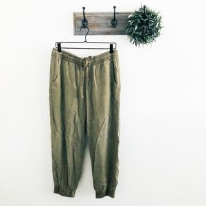 NEW Cloth & Stone Green Jogger Pants M